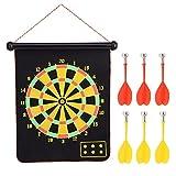 Freccette da 15 Pollici magnetiche a Doppia Faccia per Freccette da Parete con Freccette di Sicurezza per Giocattolo per Bambini