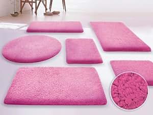 SKY Badematte Uni - Größe wählbar - 50x80cm, pink - Öko-Tex 100 zertifiziert