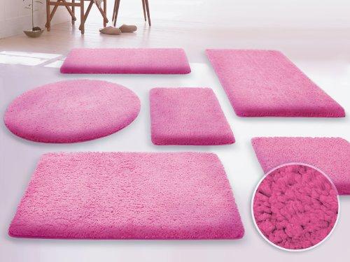 SKY Badematte Uni - Größe wählbar - 70x120cm, pink - Öko-Tex 100 zertifiziert