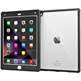 rooCASE iPad Air 2 Case – [Glacier Tough] Hybrid Scratch Resistant Clear PC/TPU Armor Full Body Protección Case Cover for Apple iPad Air 2 (2014) 6th Generation Granite Black iPad Air 2 (2014)