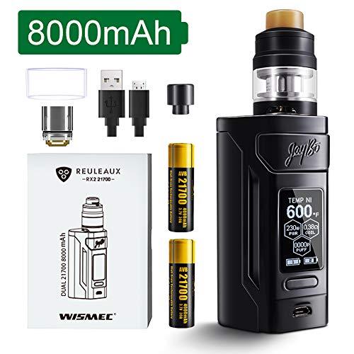 Wismec Reuleaux RX2 21700 230 W TC E Zigarettenstarter-Kit mit 8000-mAh-Akku, kein Nikotin, keine Flüssigkeit (Schwarzglänzend)