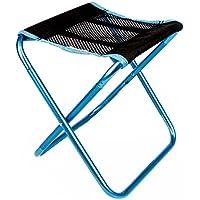 TRIWONDER Taburete de Camping Portátil Silla de Camping Plegable al Aire Libre para mochilear Senderismo Pesca Jardín de Viaje Barbacoa con Saco de Transporte (Azul)