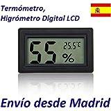Termometro Higrometro LCD Digital Humedad Bodega Frigorifico Exterior Sauna Casa