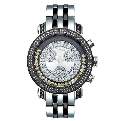 Joe Rodeo diamante orologio da uomo-classico nero 1.75Ctw