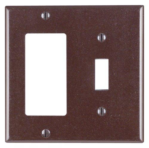 Leviton Objektbereich 1-toggle Decora/GFCI Gerät Kombination Wanddose, Standardgröße, Duroplast, Geräte Halterung, 80405 Leviton Faceplates