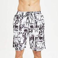 Pantalones Cortos de Playa, Pantalones Cortos de Surf Hawaianos Ocasionales, Pantalones Cortos de Verano para Hombres, Good dress, gris, 4XL