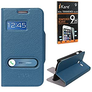 DMG Sview Call Case Vip for samsung galaxy star pro 7262 (Blue) + Tempered Glass Screen Protector