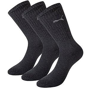 Puma Unisex Sport Socken in gewohnter Puma Markenqualität. 9 Paar (43/46, Anthrazit-201)