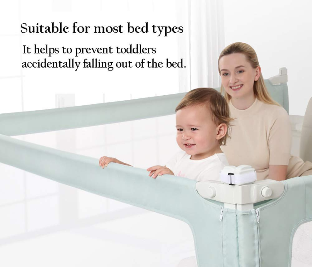 Playpens Baby Bed Guard Rails for Toddlers/Kids/Children, Extra Long Bedrail for Kids Twin, Double, Queen & King Mattress (Size : 1.2m)  HWF Shop