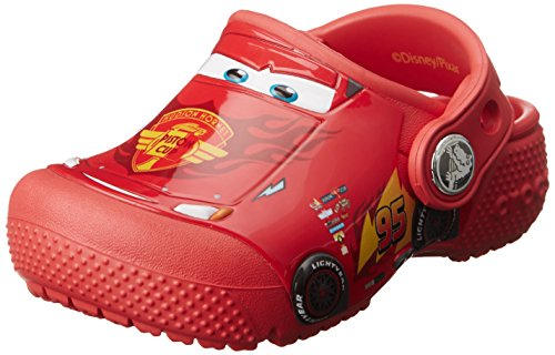 crocs Fun Lab Cars Clog Kids, Jungen Clogs, Rot (Flame), 28-29 EU Crocs Kids Disney