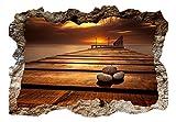 3D WANDILLUSION murando 140x100 cm Wandbild - Fototapete - Poster XXL - Loch 3D - Vlies Leinwand - Panorama Bilder - Dekoration - Landschaft Stein Panorama Natur c-B-0224-t-a