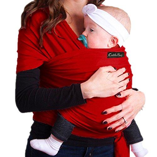 Babytragetuch – CuddleBug Babytrage – mit Gratisversand – Baby Carrier Sling – tragetuch baby (rot)