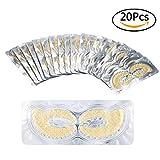 20paia Occhi maschera collagene acido ialuronico occhio patch 24 k oro pad eye per dormire gli occhi asciutti ridurre i cerchi scuri rughe idratante sbiancamento
