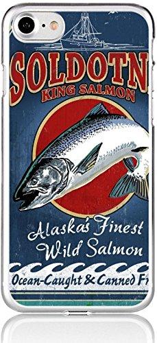 Florida Vintage Anzeigen (Blitz® VINTAGE Schutz Hülle Transparent TPU Cartoon Fischen Huawei P10 Lite)