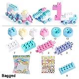 Majome 100pcs / ensemble briques de construction non toxiques blocs blocs jouet pour enfants parc d'attractions bricolage grande roue...