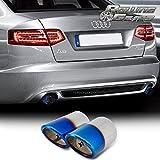 Rolling Gears A6 Auspuff Endrohr Schalldämpfer Endrohren 2008–2012, 3-Jahre Rostschutz, Burnt Blau