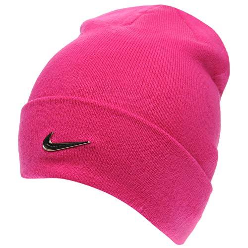 Nike Junger Metall Emblem - Rosa Mädchen Beanie für Mädchen von sechs bis dreizehn Jahren -