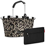 reisenthel - carrybag + case 2 Einkaufskorb Einkaufstasche Korb Einkaufen Kosmetik Kosmetiktasche (Baroque Taupe)