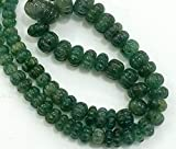 GEMS-WORLD BEADS GEMSTONE 1 Strand Natural Emerald Melon Beads, Emerald Necklace, Emerald Jewelry, Original Emerald Necklace, 5.5mm - 15mm 10' Long