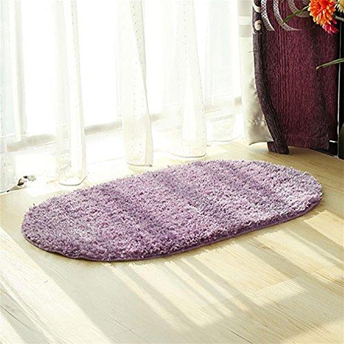 LL-Badematte Badteppich rutschfeste weiche Mikrofaser Dusche Teppiche 50x80 cm für Badezimmer Schlafzimmer Wohnzimmer , purple