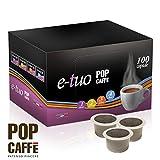 50 CAPSULE POP CAFFE' E-TUO 4 DECAFFEINATO COMPATIBILI FIOR FIORE, LUI ESPRESSO E MITACA MPS