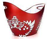 Smirnoff Flaschenkühler Eiskühler Eiskübel dunkel rot mit Wappen