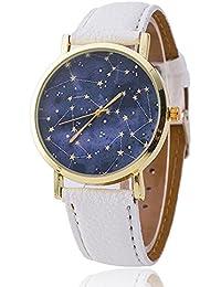 crewpros (TM) correa de piel constelaciones Reloj Relogio Feminino Fashion mujeres cuarzo reloj Casual relojes de lujo caliente venta