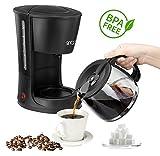 Kaffeemaschine 12 Tassen 1,2 Liter Warmhalteplatte 800 Watt Glaskanne Tropfstopp BPA Frei (Kaffeemaschine 800Watt)