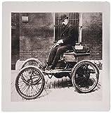 3drose LLC 20,3x 20,3x 0,6cm Mauspad von alten Auto Foto in schwarz und weiß (MP _ 184299_ 1)