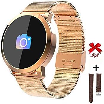 RanGuo Montre Connectée pour Hommes Femmes Enfants, Sports de Plein air Smart Watch Etanche pour Smartphones système Android et iOS, Soutien Appel Rappel et ...