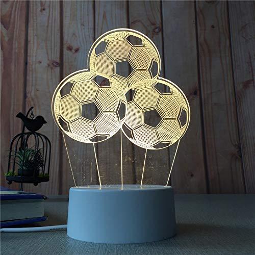 Wohnkultur Schlafzimmer Nachtlicht Mädchen Herz Kreative 3D Tischlampe Nordic Kinder Cartoon Licht Fußball 3