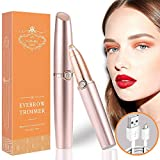Eyebrow Epilator, 2020 Updated USB Charger Electric Eyebrow Trimmer, Painless and Washable Eyebrow Hair Remover for Women, Eyebrow Razors with Premium Gift Package