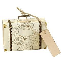 Idea Regalo - Gudotra 100pz Scatole Bomboniere Carta Kraft Scatoline Portaconfetti per Regalo Matrimonio Battesimo Compleanno Regalo Laurea Natale