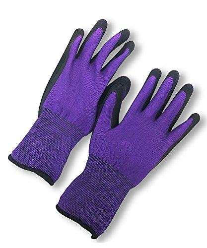 CHAOXIANG Gartenhandschuhe Arbeitsschutzhandschuhe Gartenpflege Handschuhe Handschuhe lila ( größe...