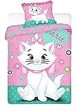 Jerry Fabrics JF0124 Bettwäscheset Marie Katze 2015, 1x Bettdecke und Kissenhülle, 100% Baumwolle, 140 x 200/70 x 90 cm