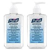 PURELL Advanced Hygienisches Händedesinfektionsmittel – DOPPELPACK (2 x 300ml Pumpflasche)