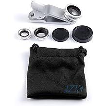 JZK® 3 en 1 L'objectif fish-eye à 180° + l'objectif grand angle + l'objectif Micro pour iPhone 6 Plus, 6, 5 5G 5S 5C 4S Samsung GALAXY S3 S4 I S5 Note2 Note3 S3 mini HTC Nokia Sony Xperia WIKO les autres pluspart téléphones portables