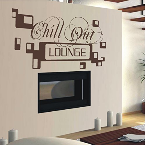 HomeTattoo  WANDTATTOO Wandaufkleber Chill Out Lounge Retro Wohnzimmer Schlafzimmer 478 XL ( L x B )...