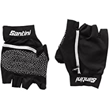 Santini 365 - Guantes, color negro, talla X-Small