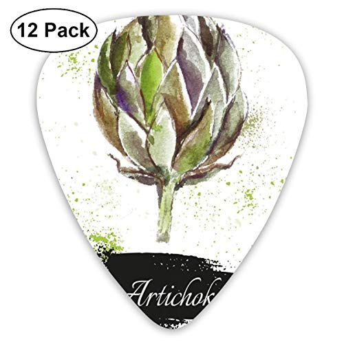 Guitar Picks - Abstract Art Colorful Designs,Hand Drawn Delicious Fresh Vegetable Healthy Menu Good Eats Super Food,Unique Guitar Gift,For Bass Electric & Acoustic Guitars-12 Pack Good Grips Tool