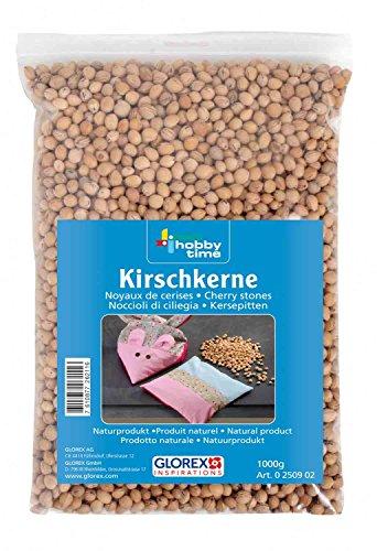 Glorex 0250902-noccioli di Ciliegia, Marrone, 1000 g