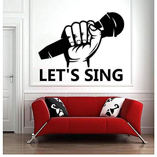 Wandaufkleber Lassen Sie uns singen Weihnachten Aufkleber PVC Vinyl Wohnzimmer Schlafzimmer Fenster Bad Büro Schlafsaal Shop Decor 74x93 cm