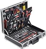 Meister Werkzeugkoffer 129-teilig - Stabiler Alu-Koffer - Werkzeug-Set - Für Haushalt, Garage & Werkstatt/Profi Werkzeugkoffer befüllt/Werkzeugkiste / Werkzeugbox komplett mit Werkzeug / 8971410