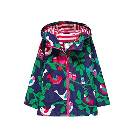 C & STYLE UK - Abrigo impermeable - para niña multicolor