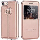 iVAPO Coque iphone 7 en Cuir PU Etui pour iPhone 7 en Cuir Artificiel Housse iPhone 7 avec Rabat ...
