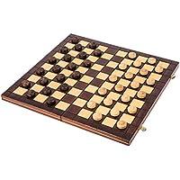 Square - Jeux Dames en Bois - Damier 100 Cases - 40 x 40cm