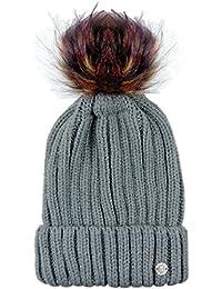 GMV Cappello Invernale Donna Gianmarco Venturi con PON PON in Finto Pelo  Multicolorato cee07b530905