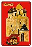 Pacifica Island Art 22cm x 30cm Vintage Metallschild - Novgorod, Russland - Ein Juwel der Alt-russischen Architektur - Vintage Retro Welt Reise Plakat c.1960s
