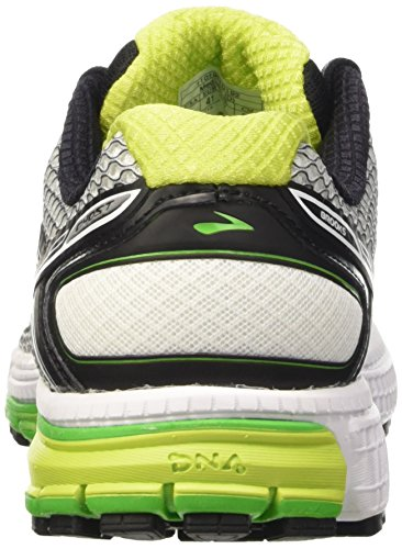 Brooks Ghost 8 M, Chaussures de Running Entrainement Homme Argent (Silver/Classicgreen/Limepunch 192)