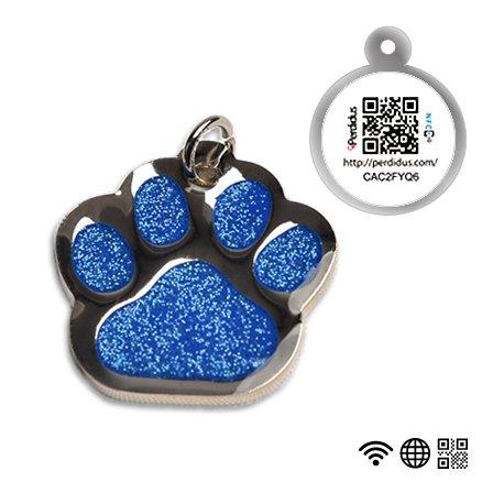 placa-identificativa-para-perros-con-forma-huella-brillante-nfc-y-qr-o-grabado-del-nombre-y-telefono